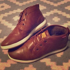 Levi's leather high top shoes.